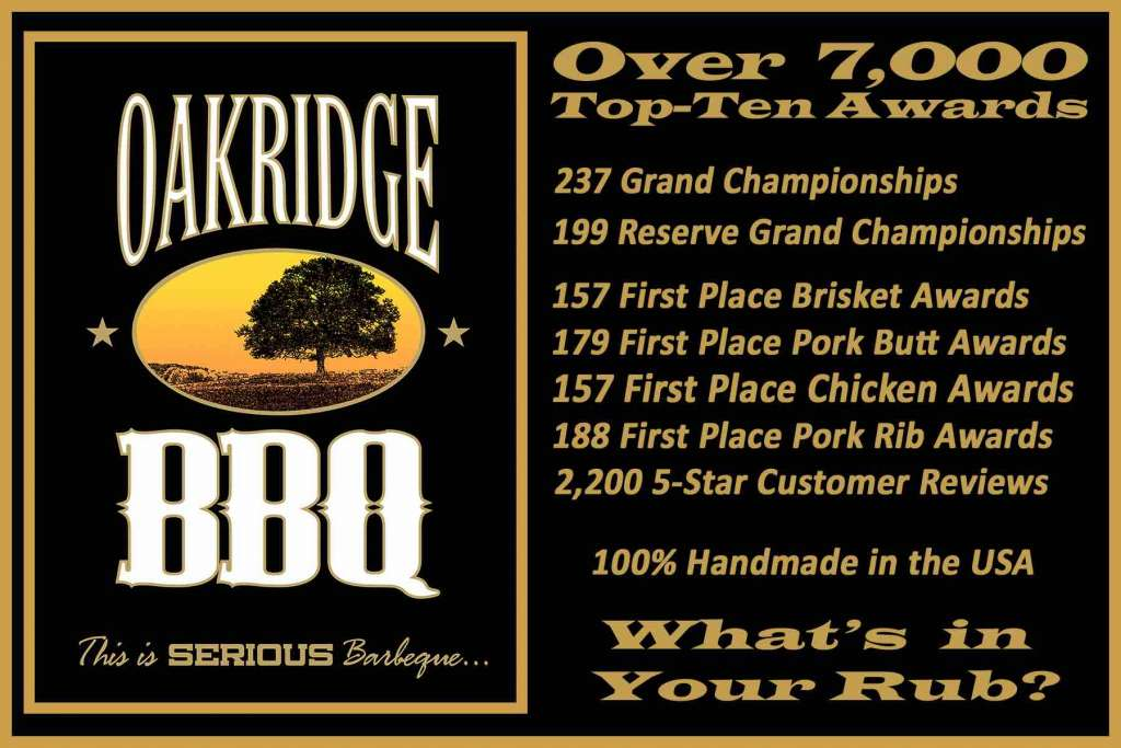 Oakridge BBQ Awards Banner