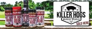 Killer Hogs Barbecue Products Sold Here
