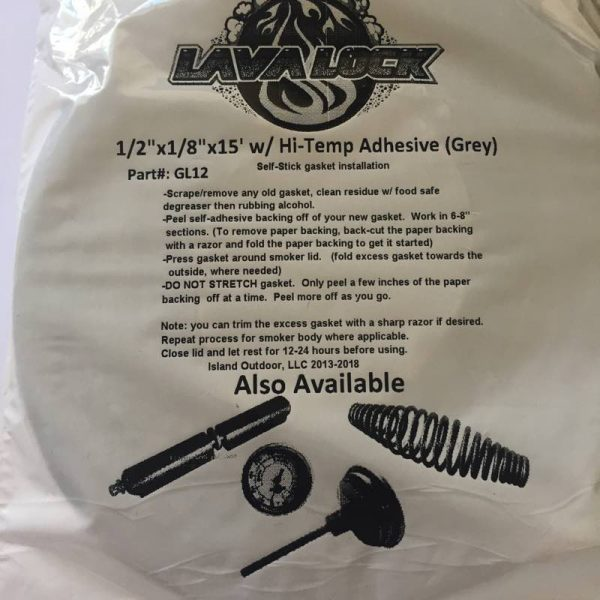 LavaLock® - BBQ Gasket - Grey 12.7mm x 3mm