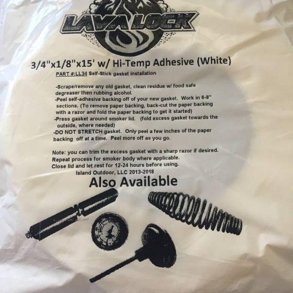 LavaLock® - BBQ Gasket - White 19mm x 3mm