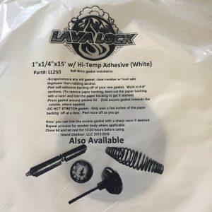 LavaLock® - BBQ Gasket - White 25mm x 6mm