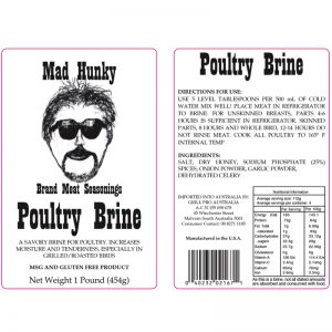 Mad Hunky Poultry Brine