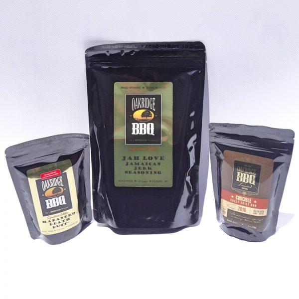 Oakridge BBQ - Habanero Death Dust, Jah Love & Ghost Chilli Gift Pack